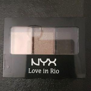 NYX Eyeshadow, Love in Rio, no tan limes allowed